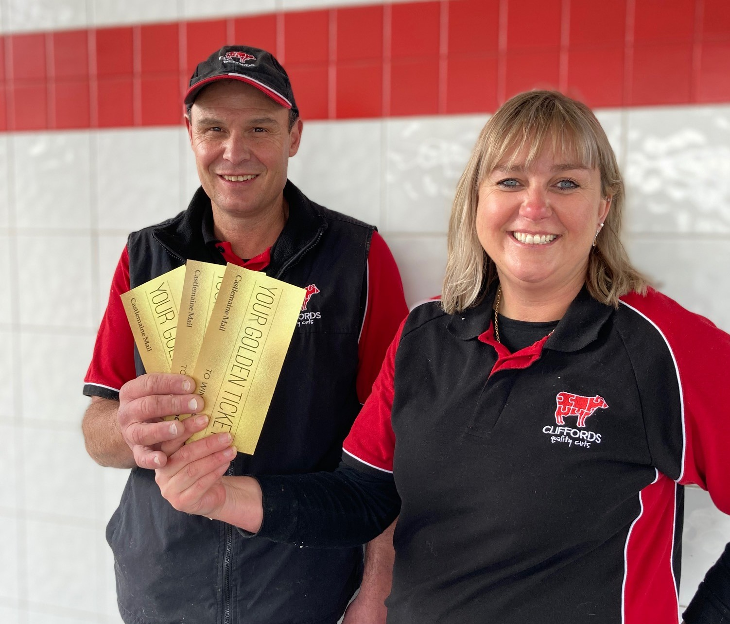 Join Steve and Leonie Clifford in our Golden Ticket promotion.