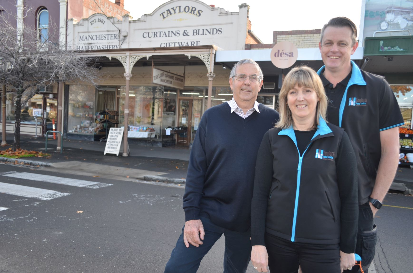 Robin Taylor, daughter Julie and her husband Shane Tunn are proud to see Taylors Home Centre celebrate 40 years in business in 2021.