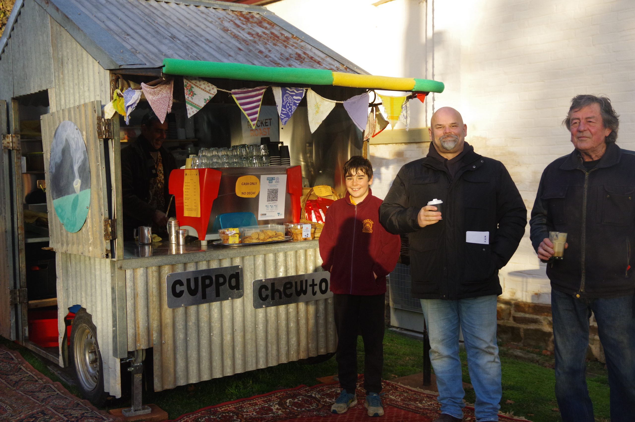Chewton locals have welcomed 'Cuppa Chewton'. Photo: Max Lesser.
