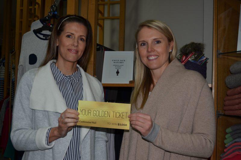 Mensland Castlemaine proprietors Renee Ramsey and Lauren Barker urge everyone to get their golden ticket entries in to win!